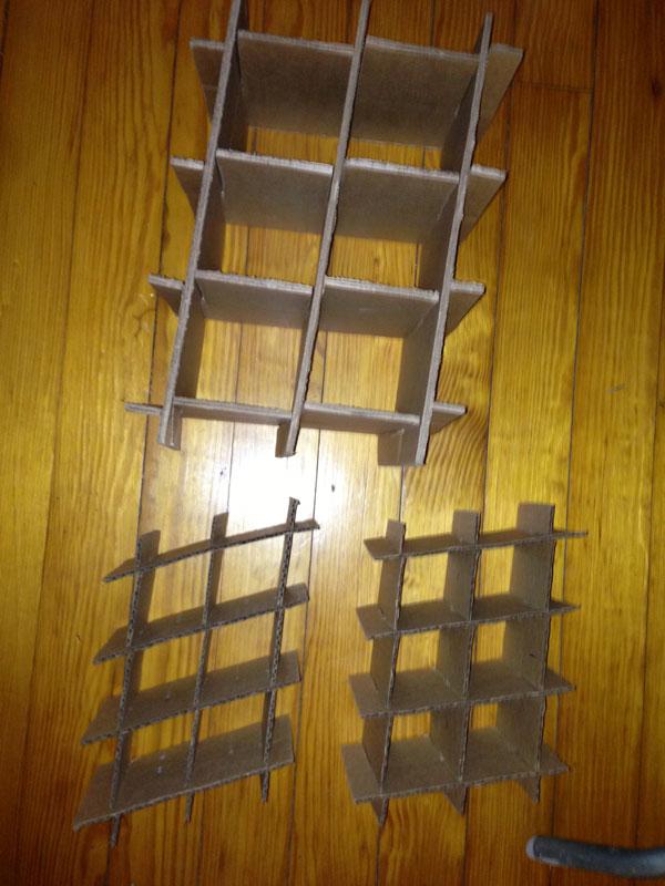 cardboard grids